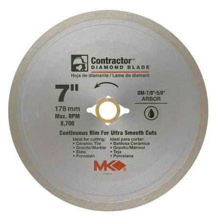 MK Diamond 7 in. Dia. x 7/8 in. Contractor Diamond Continuous Rim Circular Saw Blade 1 pc.