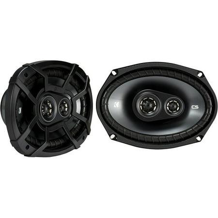 Kicker CSC693 6 x 9 Inch 450W 3 Way 4 Ohm Car Audio Speakers, Pair  