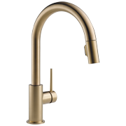Delta Trinsic Single Handle Pull-Down Kitchen Faucet in Champagne Bronze 9159-CZ-DST