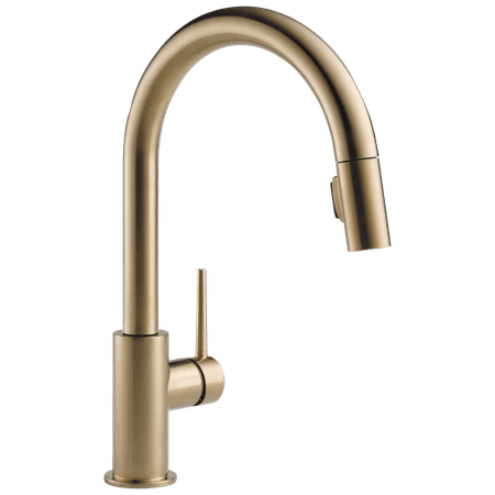 Delta Trinsic Single Handle Pull-Down Kitchen Faucet in Champagne Bronze 9159-CZ-DST (Delta Bronze Handle)