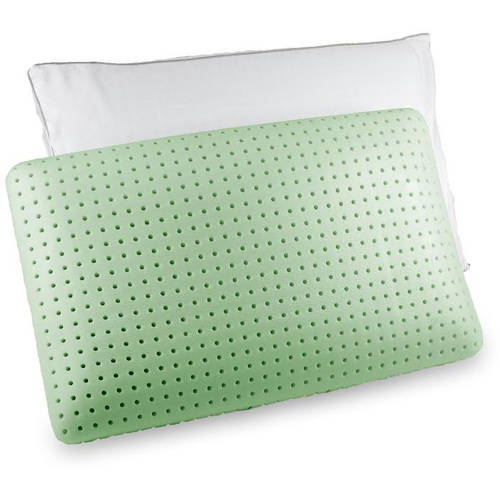 Jumbo Green Tea Memory Foam Pillow by Authentic Comfort