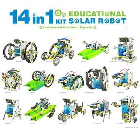 14-in-1 DIY Assemble Educational Solar Power Transformers Robot
