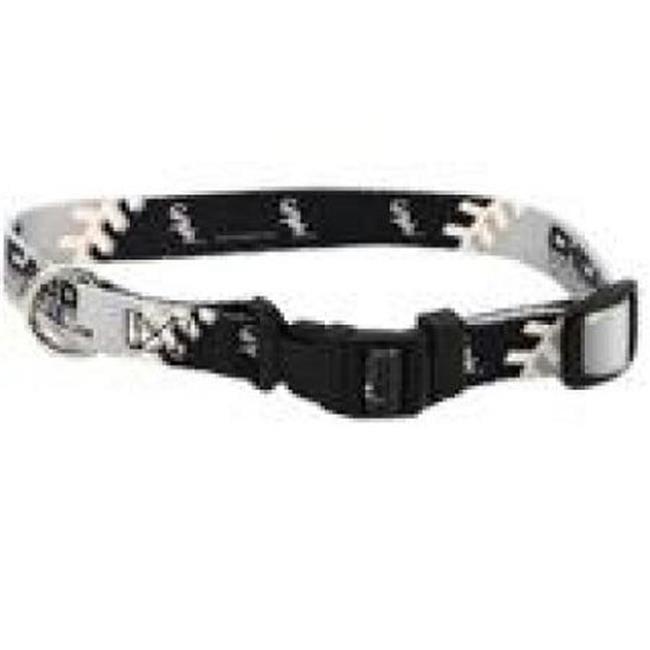 Hunter Mfg DN-310401-M Chicago White Sox Dog Collar - Medium