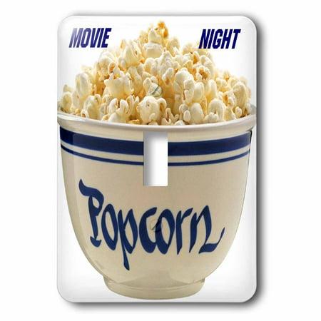 3dRose Popcorn Movie Nite Single Toggle Switch lsp 33172 1