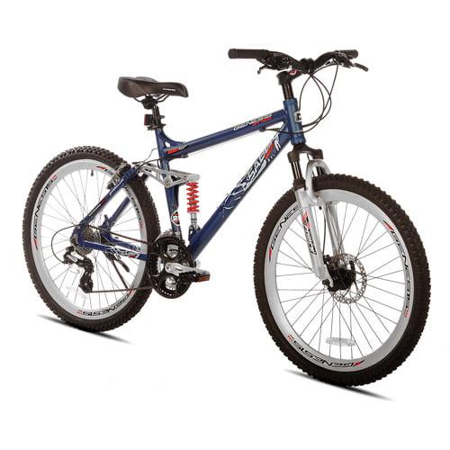 "26"" Genesis Saber Men's Mountain Bike with Full Suspension, Steel Blue"