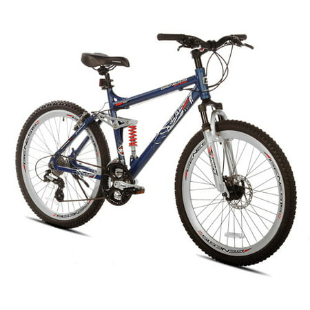 26 Genesis Saber Men S Mountain Bike With Full Suspension Steel