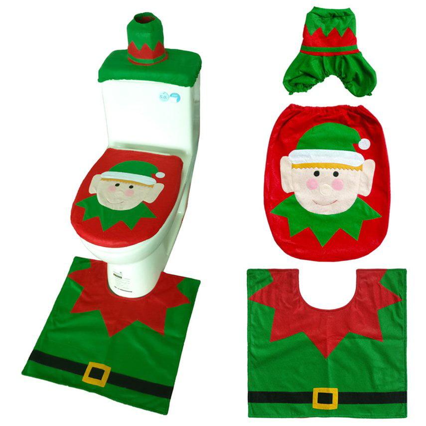 Vorcool Christmas Cover Toilet Christmas Festive Toilet Seat Cover Cartoon Santa Claus Prints Christmas Cover Toilet Lid Toilet Mat For Hotel Home Seat Covers Kolenik Baby