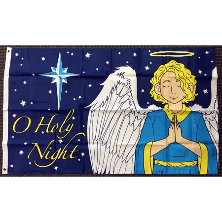 3x5 O Holy Night Angel Christmas Polyester Flag Xmas Holiday Banner Pennant New