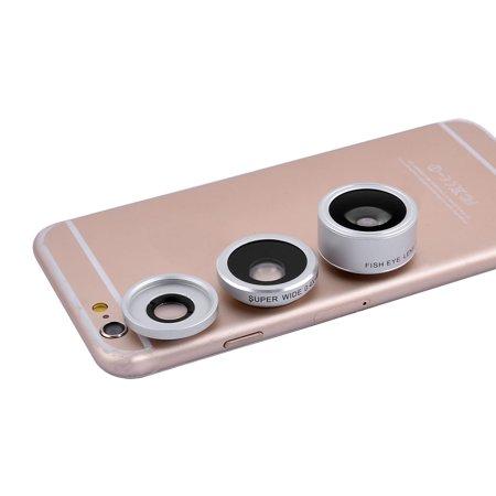 Fill Light Kit (4 in 1 198 Degree Fisheye 0.4x Wide Angle Fill light Phone Lens Kits)