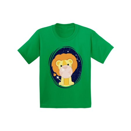 Awkward Styles Youth Lion Shirt Cute Lion T-shirts for Girls Cute Lion T-shirts for Boys Lion Birthday Gifts Themed Party Tshirt Funny Lion with a Pink Gum T-shirt for Kids - Girl Themed Parties