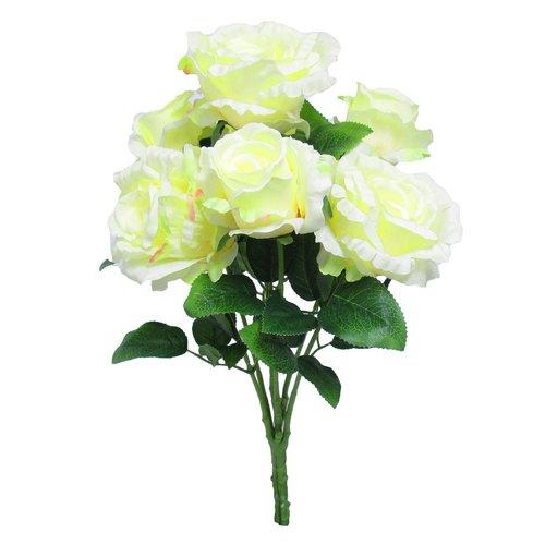 Charlton Home Deluxe Elegant Bush Roses Floral Arrangement (Set of 2)