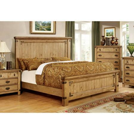 Furniture of America Moira II Cottage California King Bed, Weathered Elm California Cottage Furniture