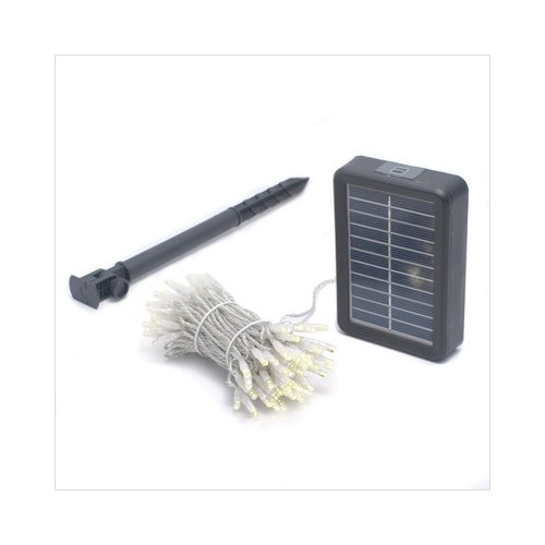 Mr Light 100 LED Solar String Lights with Clear Wire in