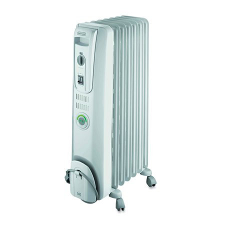 DeLONGHI ComforTemp Oil-Filled Radiator, Off-White, 13 4/5 x 9 1/10 x 25