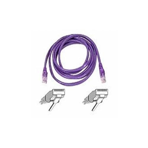 Belkin - Patch cable - RJ-45 (M) - RJ-45 (M) - 35 ft - UTP - CAT 6 - molded, snagless - purple - for Omniview SMB 1x16,