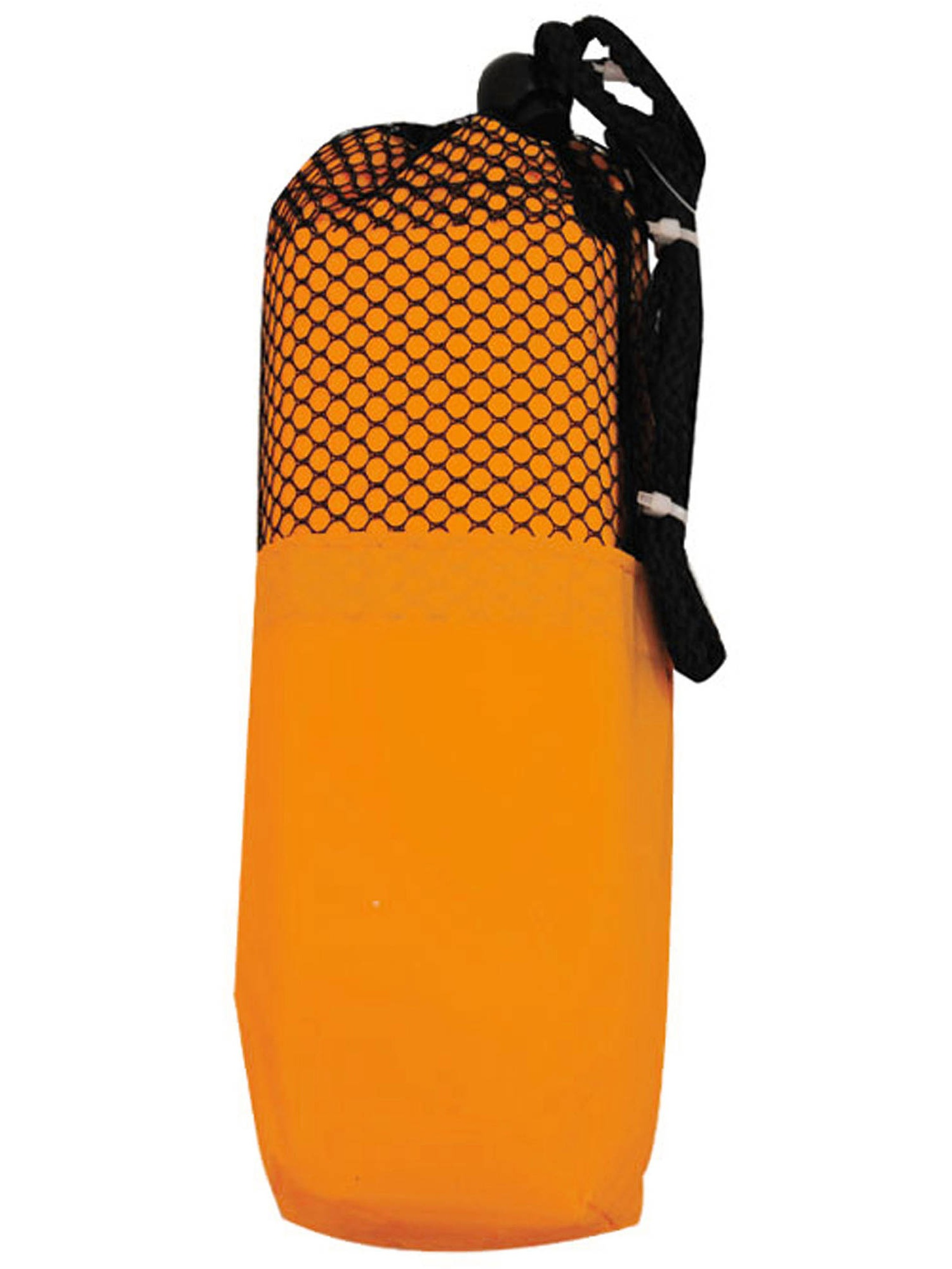Adult PVC poncho in color matching carry case