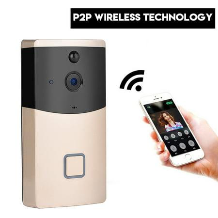 - Smart WiFi Video Doorbell Visual Camera Intercom Remote Phone APP Night Vision, Wifi Video Door Bell, Doorbell Camera