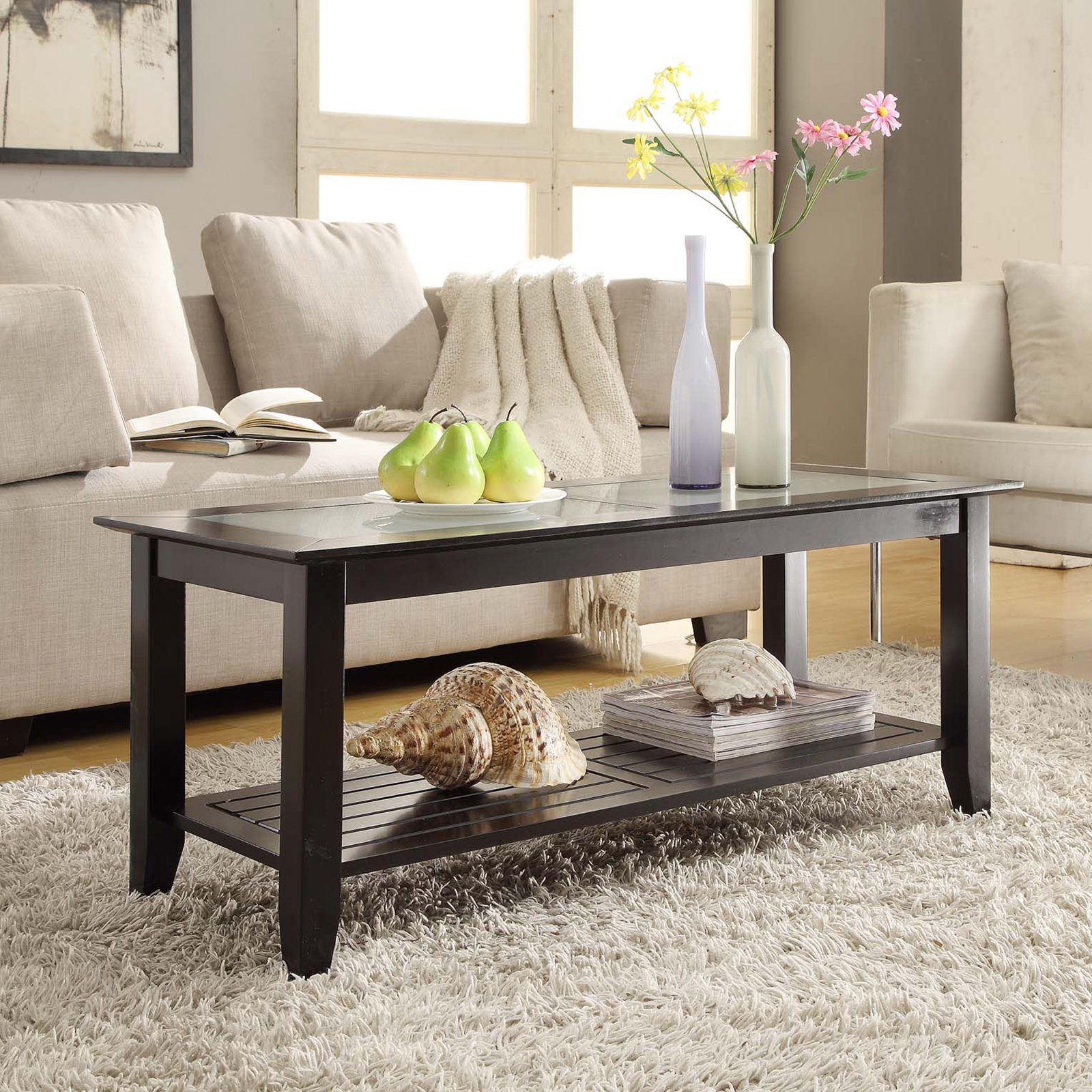 Convenience Concepts Carmel Coffee Table Multiple Colors