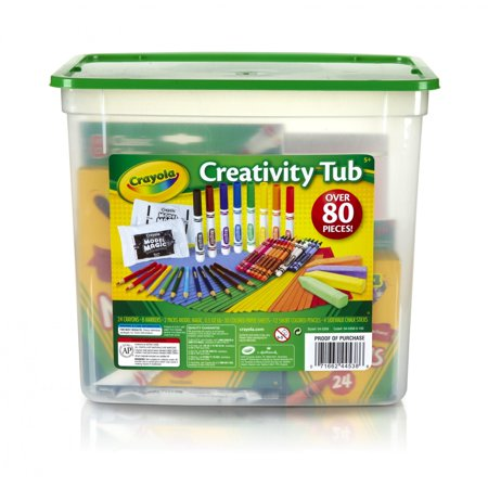 Crayola Creativity Tub, Art Supplies, Gift for Kids, 80 Pieces