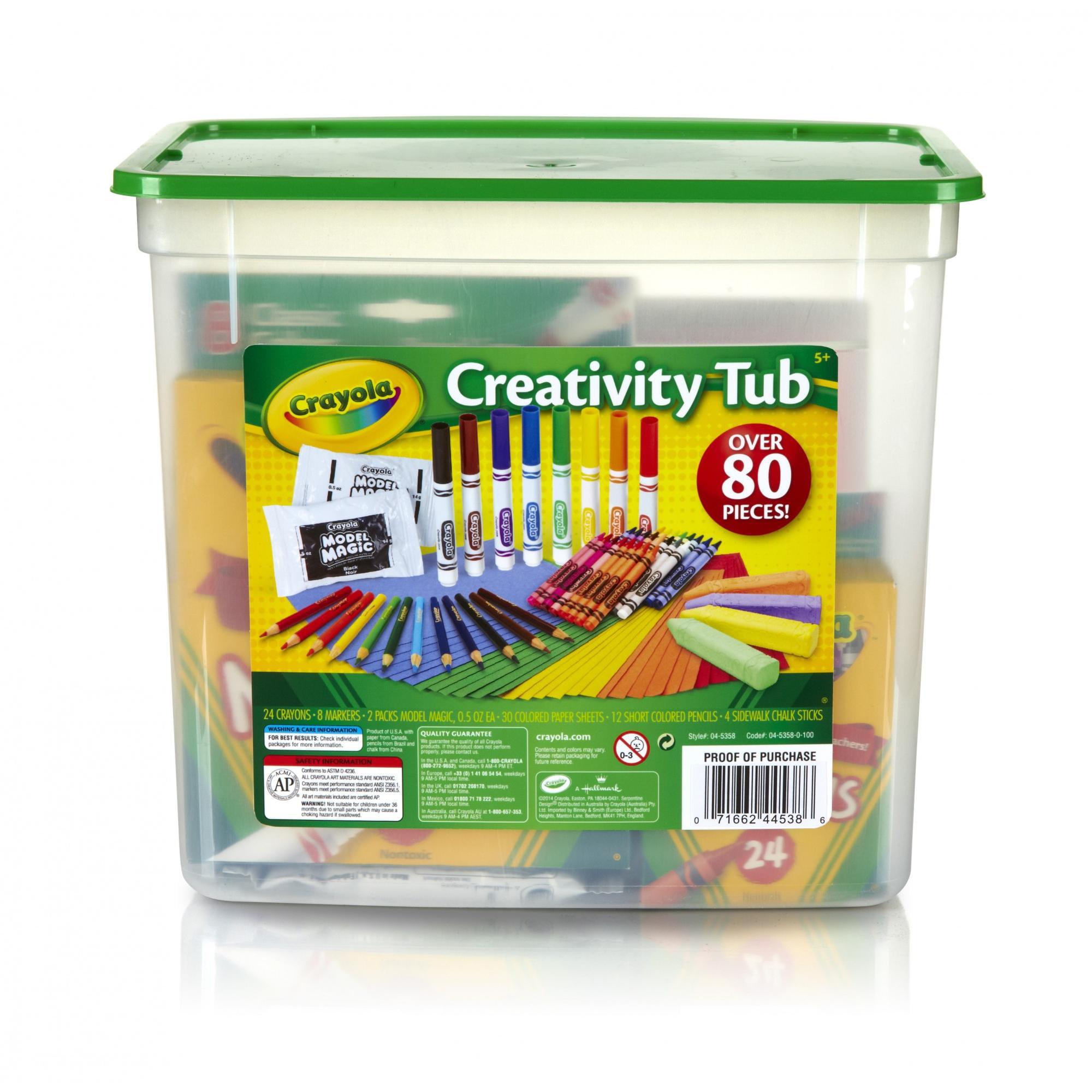 Crayola Creativity Tub, Art Supplies, Gift for Kids, 80 Pieces
