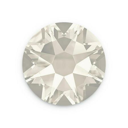 2028 Flat Back Ss34 Crystal (Swarovski Xilion Rose Flat Back 2028 3mm Crystal Silver Shade (Package of)