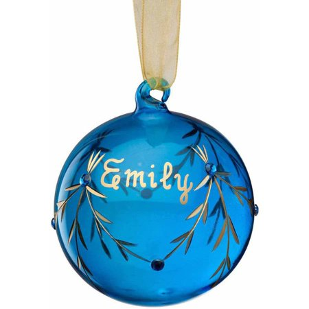 Personalized Glass Birthstone Christmas Ornament, December](Personalized Football Ornaments)