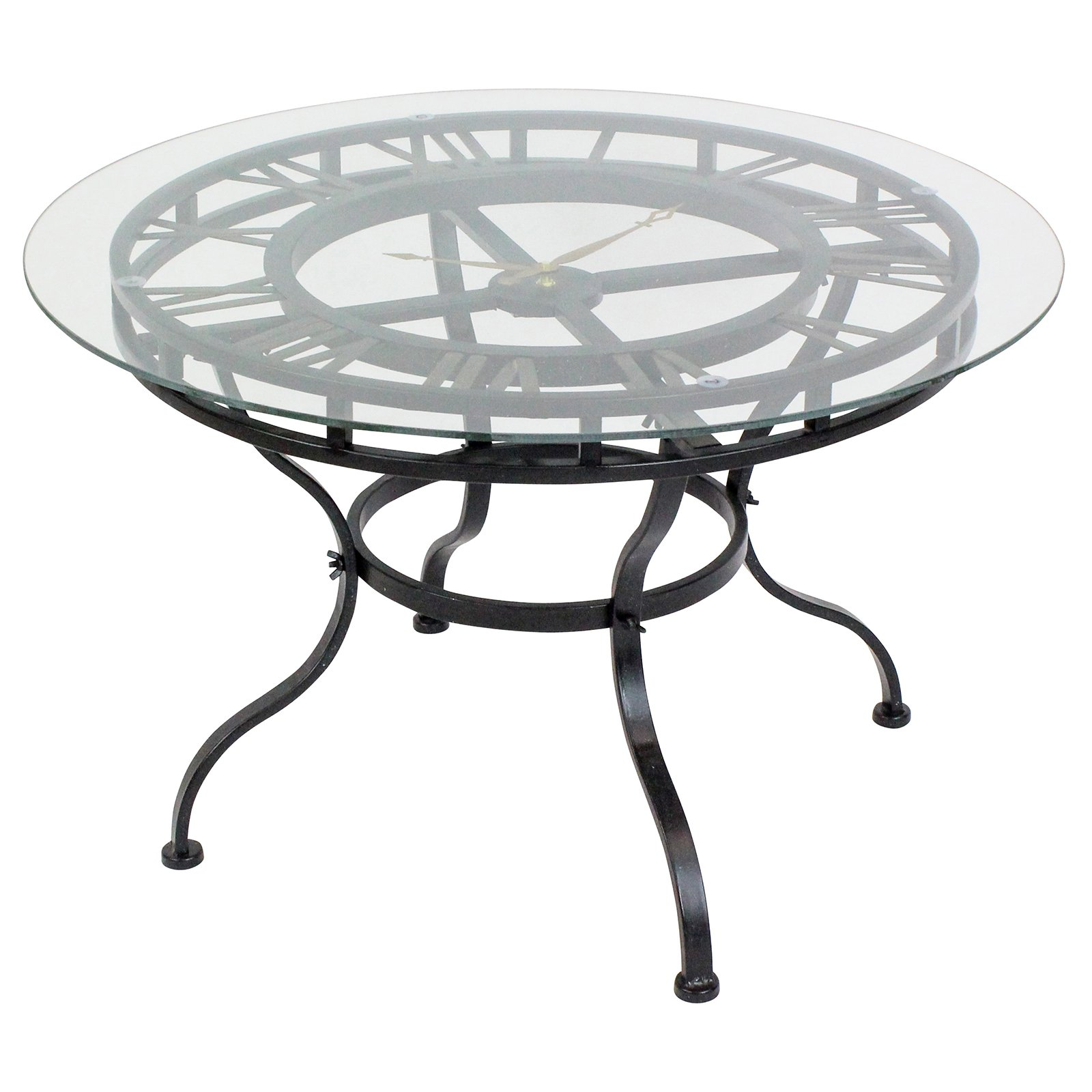 Kyndal Cocktail Table with Clock by Aspire Home Accents