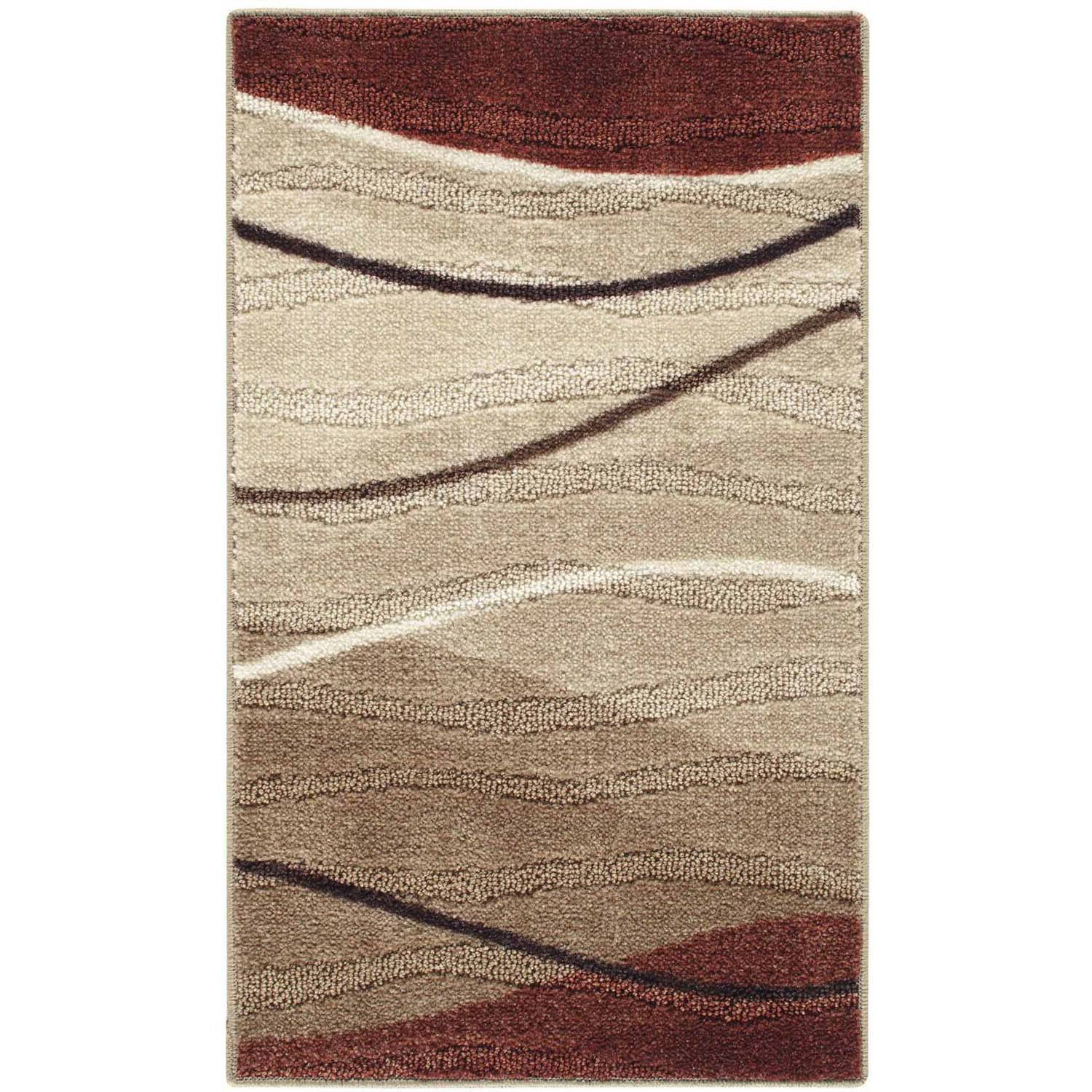 Better Homes&gardens Bhg 20x34 Waves Rust/tan Accent Rug