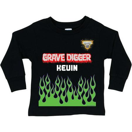 Personalized Monster Jam Grave Digger Uniform Black Long