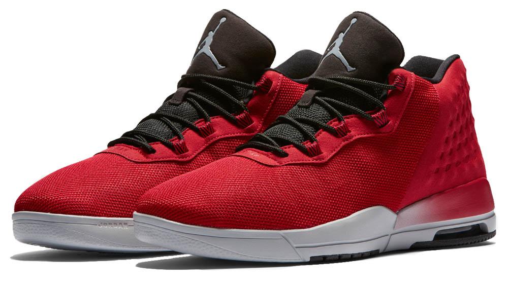 Nike Mens JORDAN ACADEMY, GYM RED/WOLF GREY-BLACK