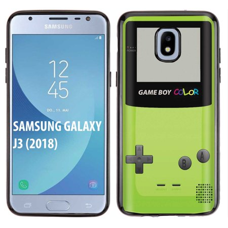 [NakedShield] Samsung Galaxy J3 2018/Amp Prime 3/Express Prime 3/Achieve/Star/J338 [Black] Ultra Slim TPU Phone Cover Case [Game Boy Color (Best Games For Galaxy Note 3)