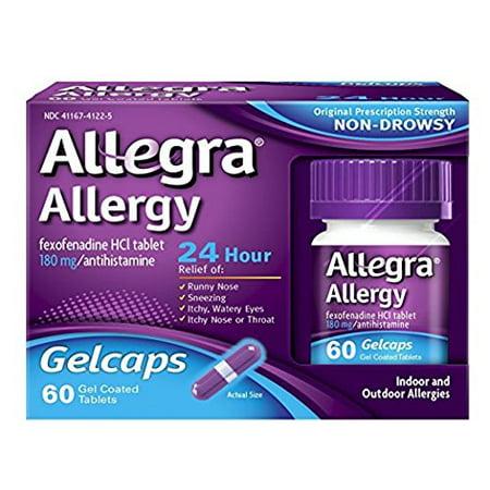 Allegra Allergy 24 Hour Gelcaps, 60 ea