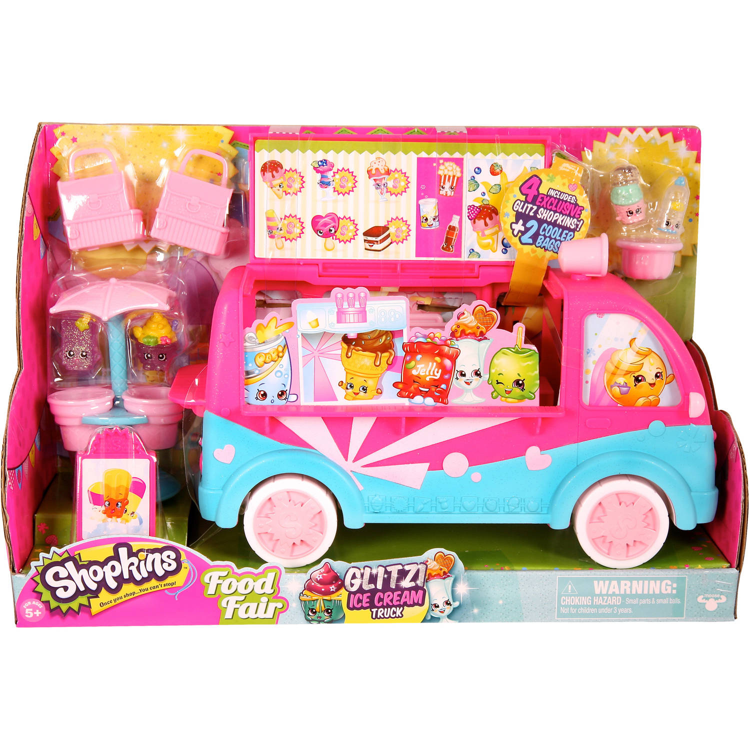 Moose Toys Shopkins Season 3 Scoops Ice Cream Truck Playset, Glitter