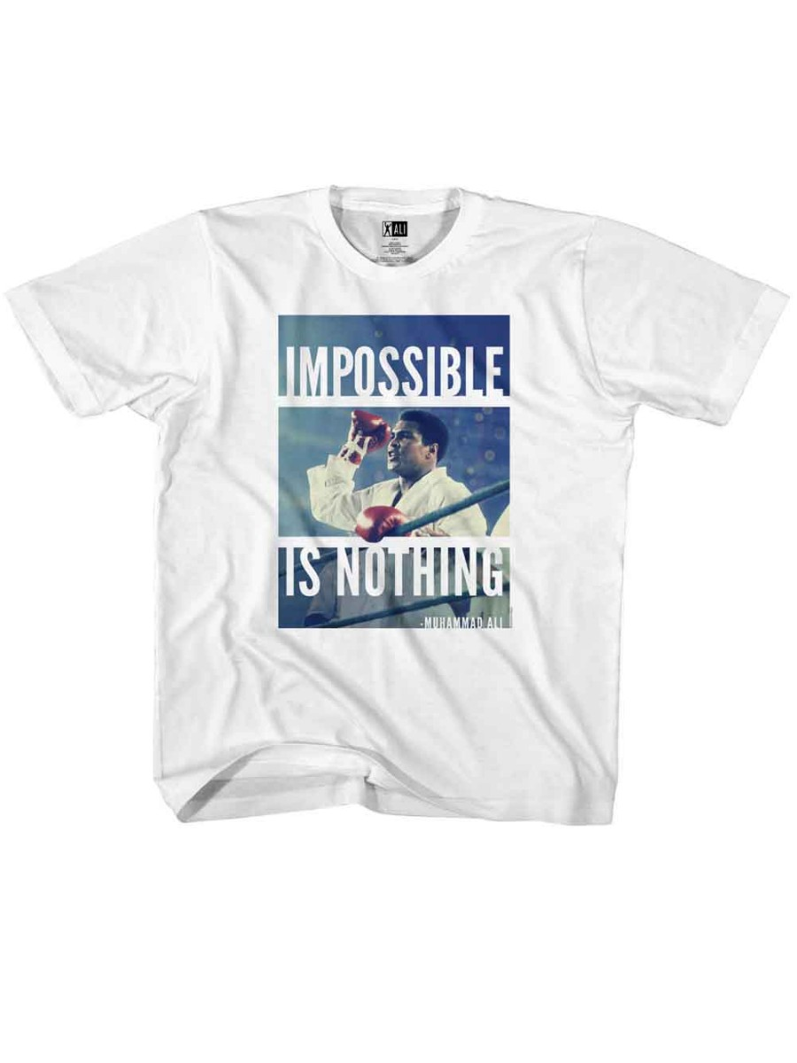 Muhammad Ali 60s Goat Greatest Boxer Not Impossible Toddler Little Boys T-Shirt