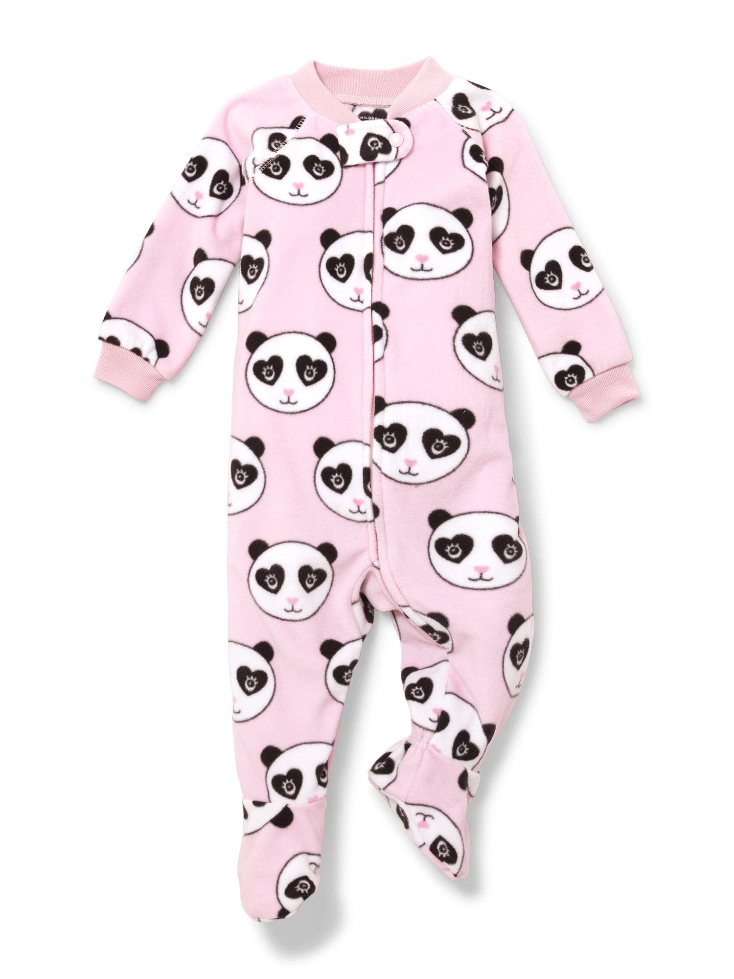 Long Sleeve Panda Footed Blanket Sleeper (Baby Girls & Toddler Girls)
