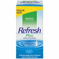 Allergan Refresh Plus Lubricant Eye Drops - 70 count - 2 Pack