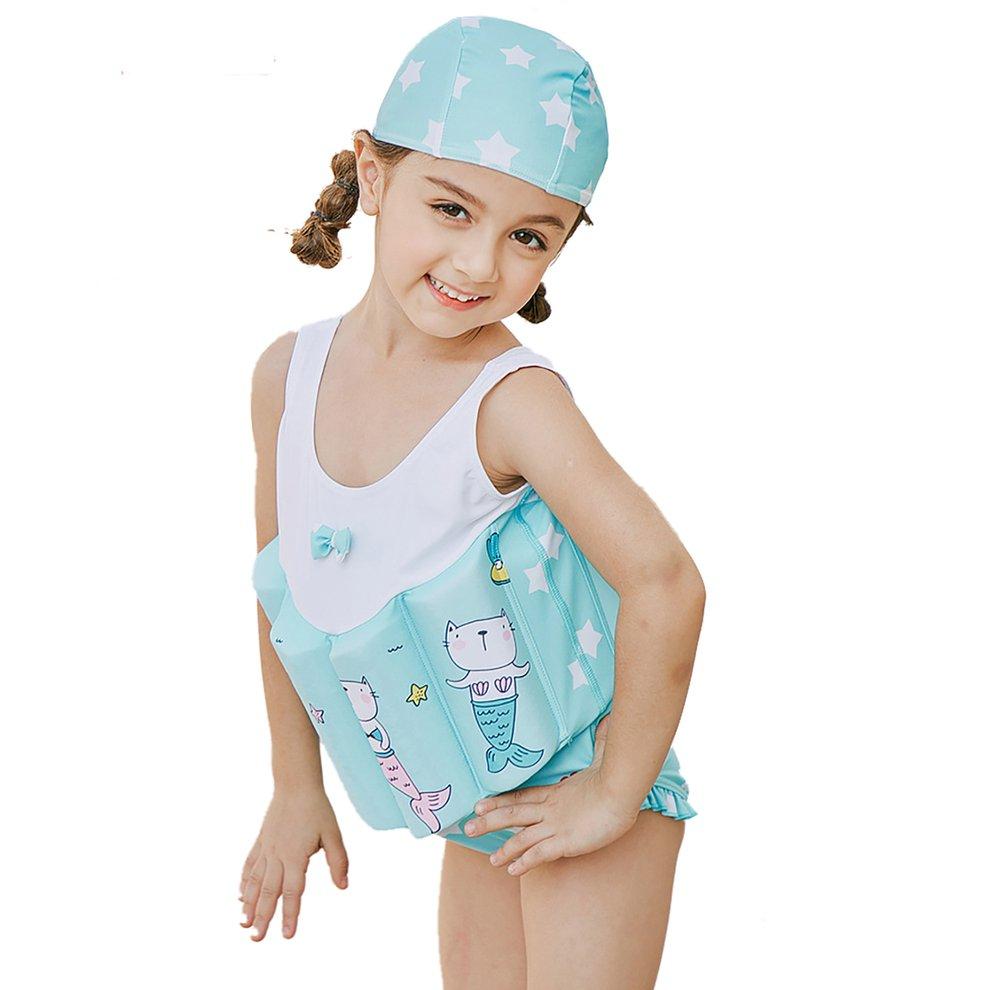 OwlFay Kids Boys Girls Floatation Swimsuit with Adjustable Buoyancy Baby Float Suit Swim Vest One Piece Swimwear Bathing Suit