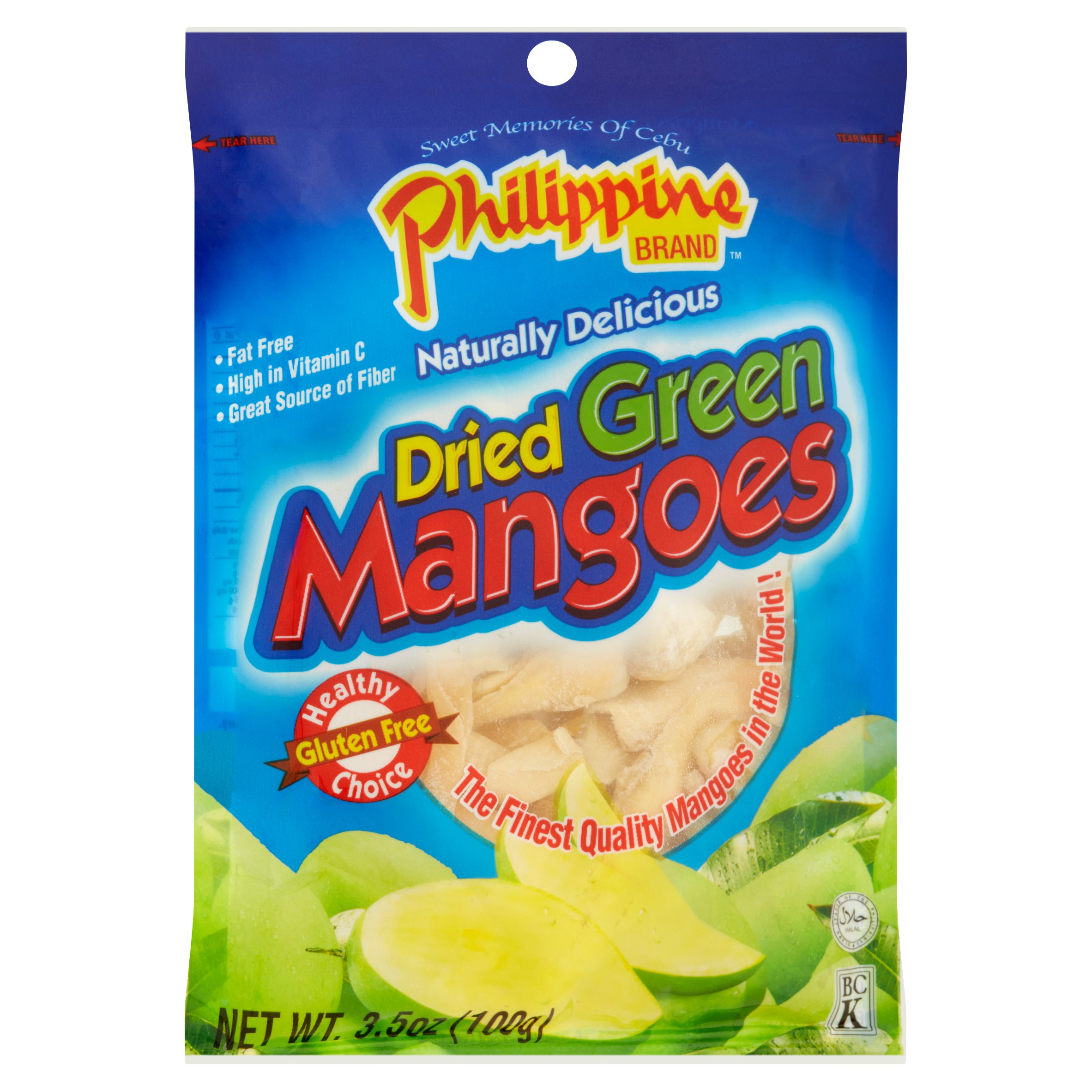 (2 Pack) Philippine Brand Dried Fruit, Green Mangoes, 3 5 Oz