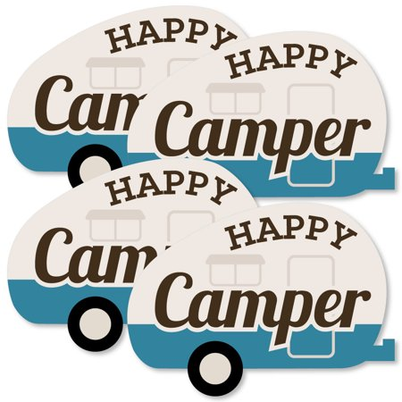 Happy Camper - Decorations DIY Camping Baby Shower or Birthday Party Essentials - Set of - Camping Decorations