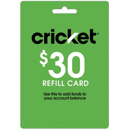 Cricket $30 Refill Card (Email -