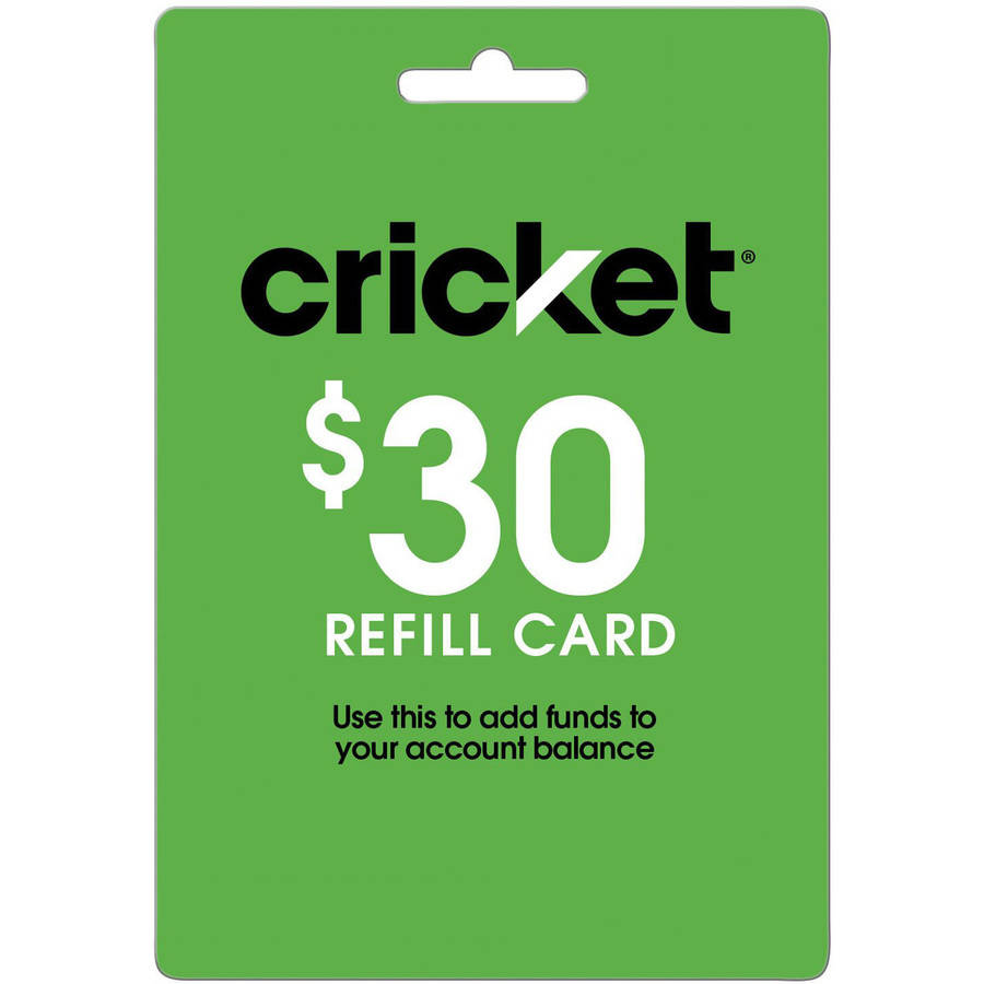Cricket $30 Refill Card (Email Delivery)