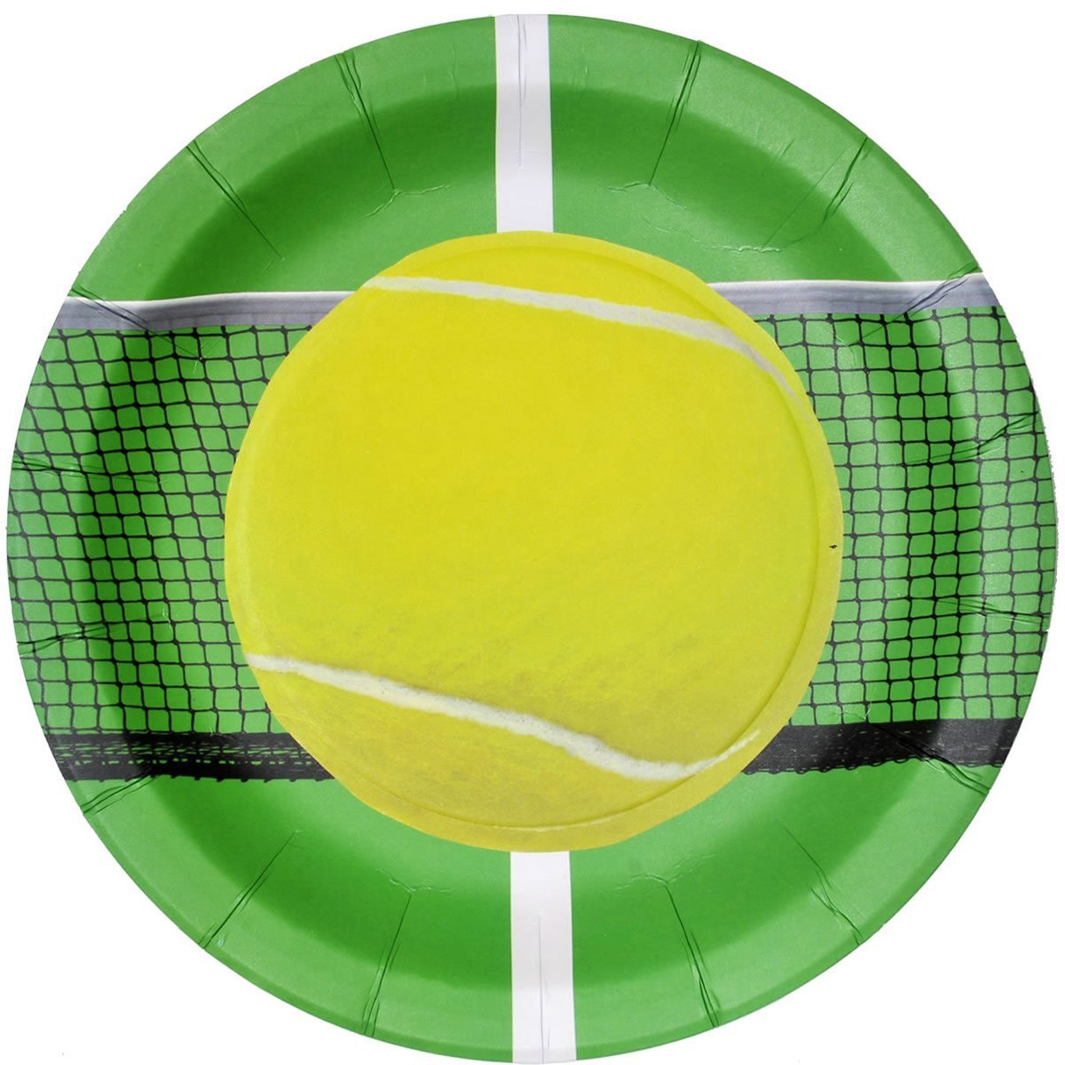 """Tennis Party 9"""" Lunch Plate - 8 Pack, One pack of 8. By TheCamoHut"""