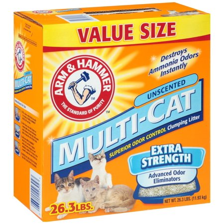 Arm & Hammer 02304 Multi-Cat Strength Clumping Cat Litter, 26.3 Lb