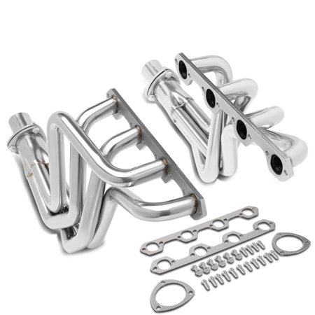 For 1969 to 1979 Ford F100 5.0L V8 Engine 302 RWD Pair Stainless Steel Full Length Long Tube Exhaust Manifold Header 70 71 72 73 74 75 76 77 78