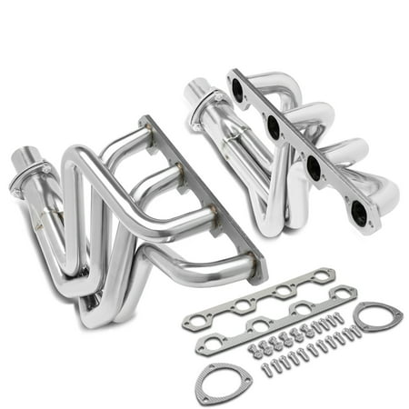 For 1969 to 1979 Ford F100 5.0L V8 Engine 302 RWD Pair Stainless Steel Full Length Long Tube Exhaust Manifold Header 70 71 72 73 74 75 76 77