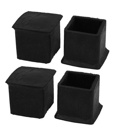 Unique Bargains Household 32x32x30mm Rubber Furniture Chair Table Foot Covers