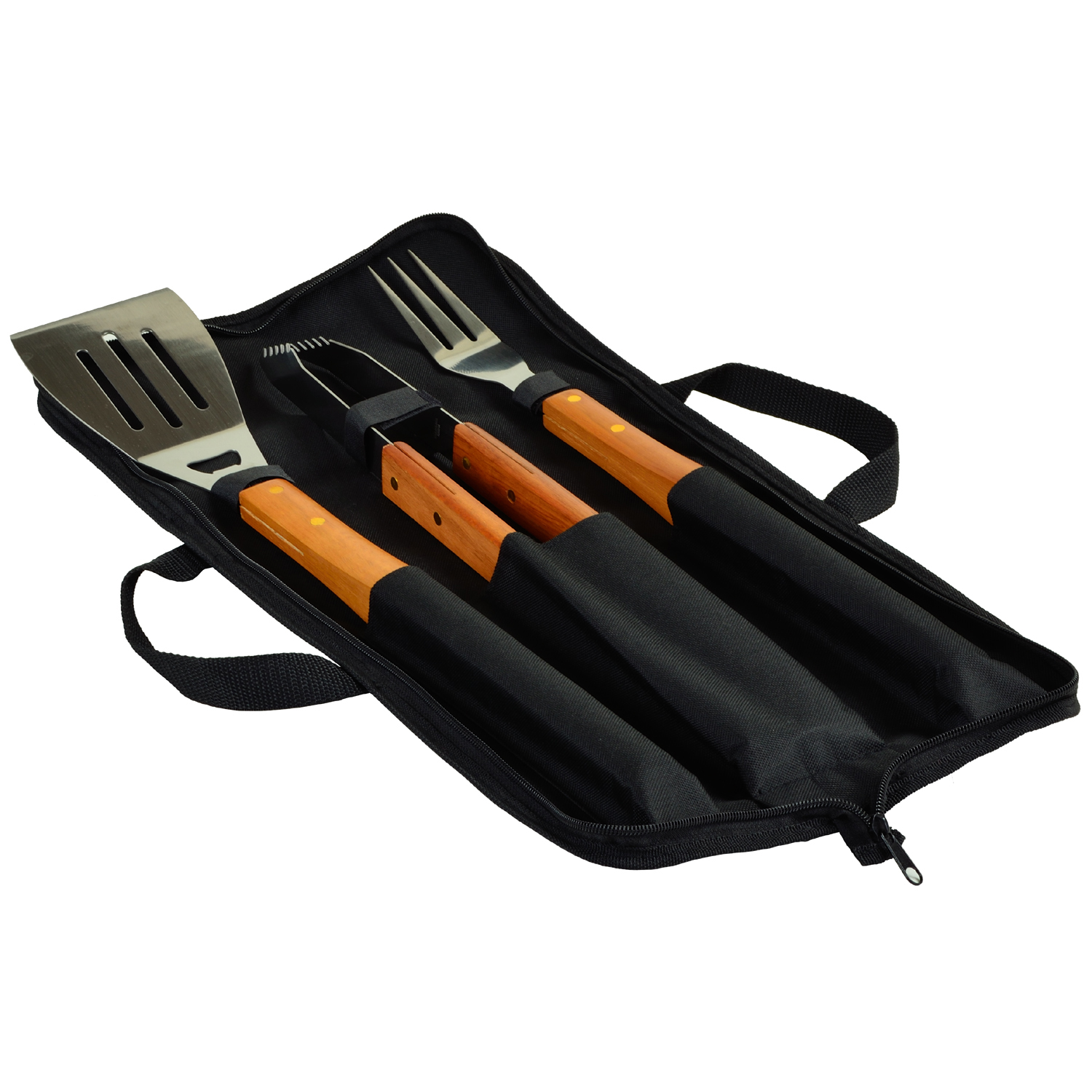 Picnic At Ascot 3 Piece Wood Handle Barbecue Set