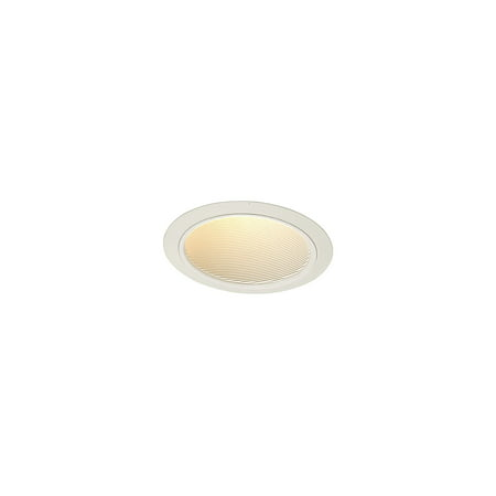 Juno Lighting 614W-WH 6 Inch Standard Slope White Baffle Trim 614 Series Round White 6 Line Voltage Trim