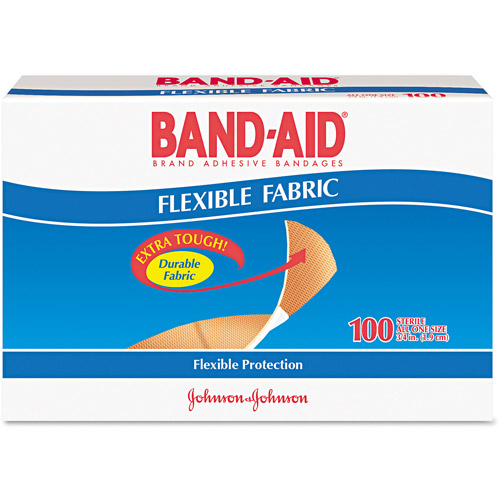 Band-Aid Flexible Fabric Bandages, 100 count