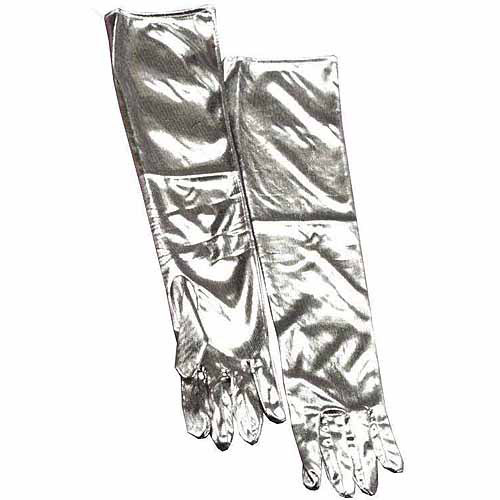 Silver Gloves Adult Halloween Costume Accessory